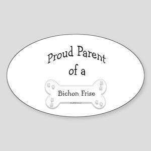 Proud Parent of a Bichon Frise Oval Sticker