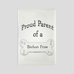 Proud Parent of a Bichon Frise Rectangle Magnet
