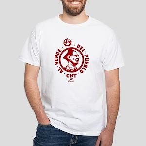 Durruti Anarchism White T-Shirt