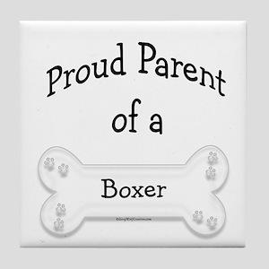 Proud Parent of a Boxer Tile Coaster