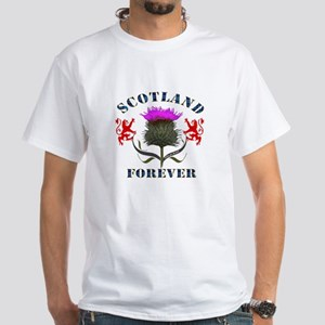 Scotland Forever Thistle White T-Shirt