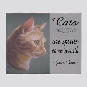 Cats are Spirits Throw Blanket