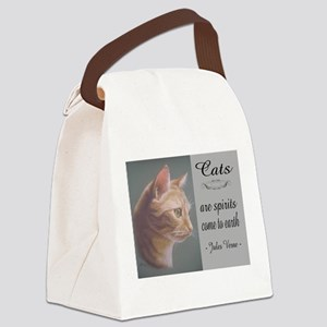 Cats are Spirits Canvas Lunch Bag