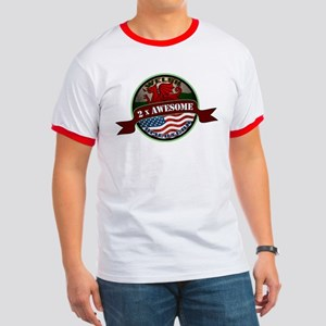 Welsh American 2x Awesome Ringer T