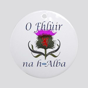 Flower of Scotland Gaelic Thistle Ornament (Round)
