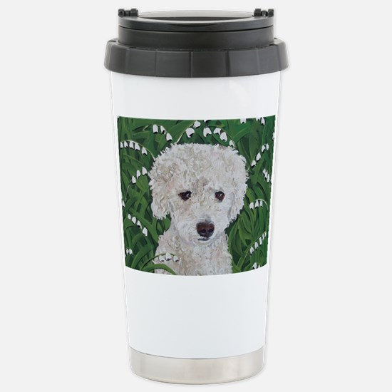 """""""Doxie Doodle"""" Stainless Steel Travel Mug"""