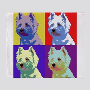 Westie a la Warhol! Throw Blanket