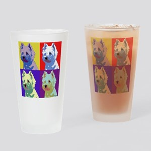 Westie a la Warhol! Drinking Glass