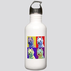 Westie a la Warhol! Stainless Water Bottle 1.0L