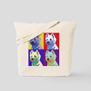 Westie a la Warhol! Tote Bag