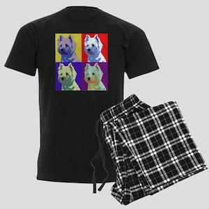 Westie a la Warhol! Men's Dark Pajamas