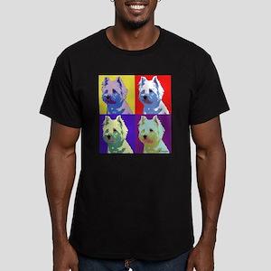 Westie a la Warhol! Men's Fitted T-Shirt (dark)