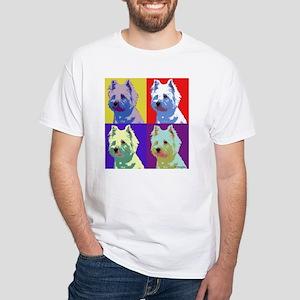 Westie a la Warhol! White T-Shirt