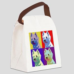 Westie a la Warhol! Canvas Lunch Bag
