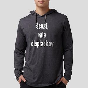 Scuzi blck Mens Hooded Shirt