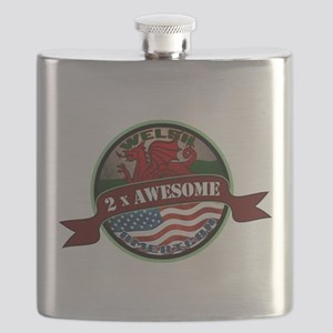 Welsh American 2x Awesome Flask