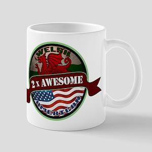 Welsh American 2x Awesome Mug