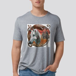 NA-warriorponyCAM-1 Mens Tri-blend T-Shirt