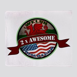 Welsh American 2x Awesome Throw Blanket