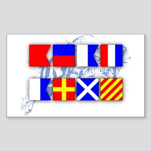 BEAT ARMY Signal Flags Sticker (Rectangle)