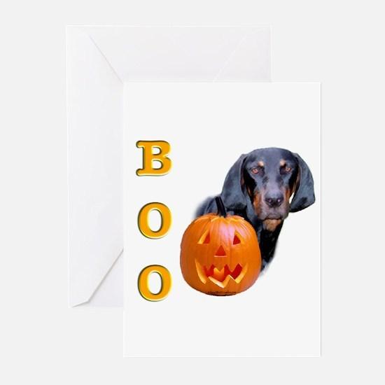 Halloween Black & Tan Boo Greeting Cards (Package