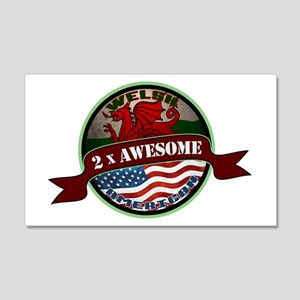Welsh American 2x Awesome 20x12 Wall Decal
