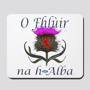 Flower of Scotland Gaelic Thistle Mousepad