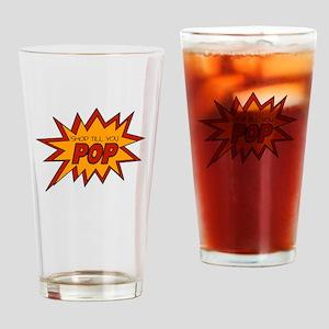 'Shop Till You Pop Drinking Glass