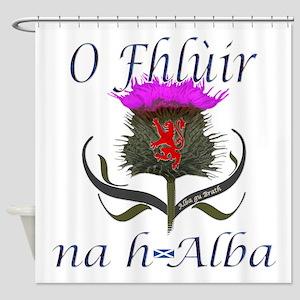 Flower of Scotland Gaelic Thistle Shower Curtain