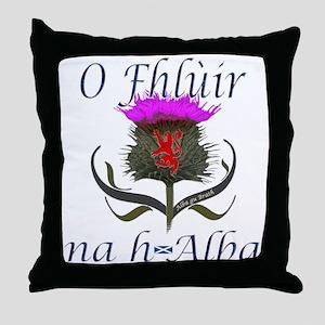 Flower of Scotland Gaelic Thistle Throw Pillow