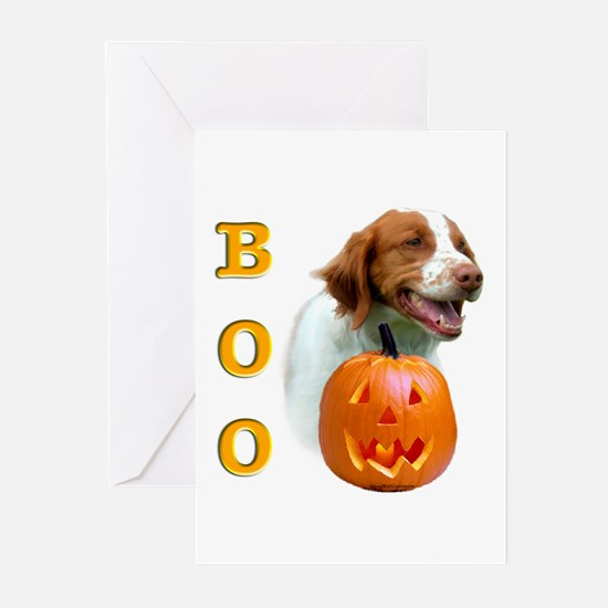 Halloween Brittany Boo Greeting Cards (Package of