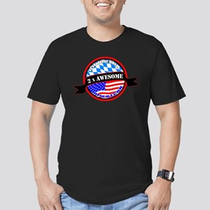 Bavarian American 2x Awesome Men's Fitted T-Shirt