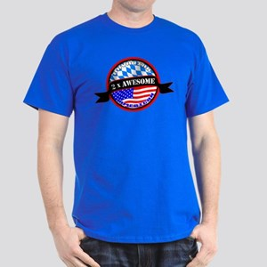 Bavarian American 2x Awesome Dark T-Shirt