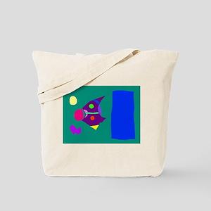 Green Board Purple Tote Bag
