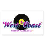 West Coast Golden Goodie Sticker (Rectangle 50 pk)