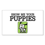 Show me your Puppies Sticker (Rectangle 10 pk)