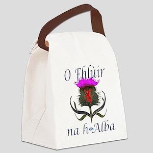 Flower of Scotland Gaelic Thistle Canvas Lunch Bag