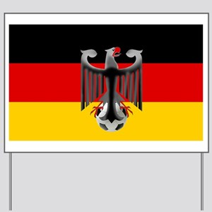 German Soccer Flag Yard Sign