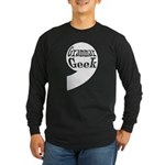 Grammar Geek Comma Long Sleeve Dark T-Shirt