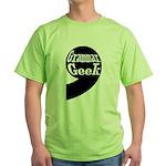 Grammar Geek Comma Green T-Shirt