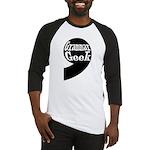 Grammar Geek Comma Baseball Jersey