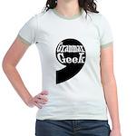 Grammar Geek Comma Jr. Ringer T-Shirt
