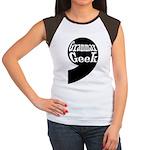 Grammar Geek Comma Women's Cap Sleeve T-Shirt