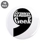 """Grammar Geek Comma 3.5"""" Button (10 pack)"""