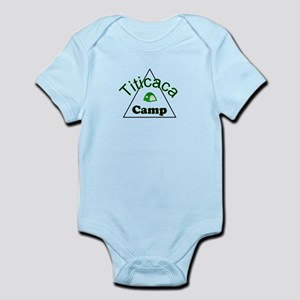 Titicaca camp ground funny campy trucker tee Infan