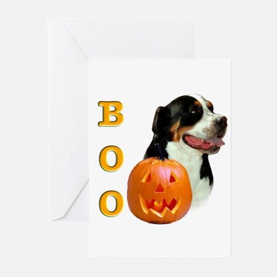 Halloween Swissy Boo Greeting Cards (Pk of 10)