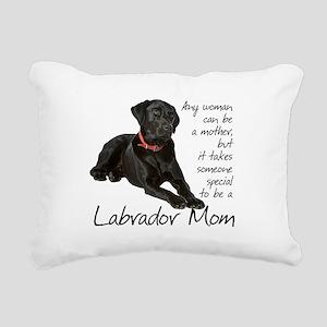 Black Lab Mom Rectangular Canvas Pillow