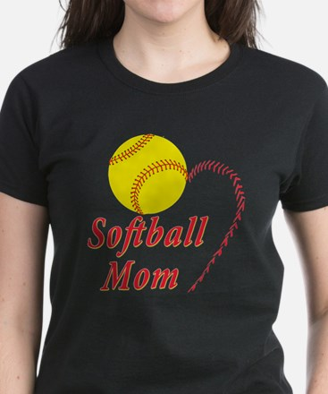 Softball mom Women's Dark T-Shirt