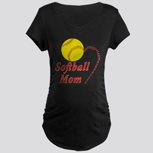 Softball mom Maternity Dark T-Shirt