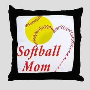 Softball mom Throw Pillow